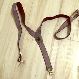 Boys gray never used suspenders